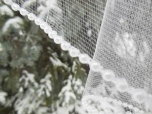 pearl edge wedding veils