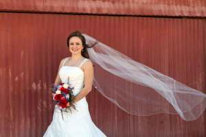 chapel length veil with crystals