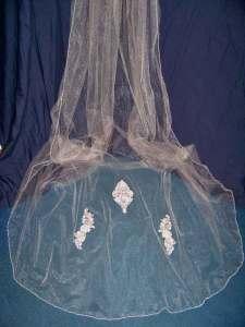 Beaded Lace Royal Length Veil
