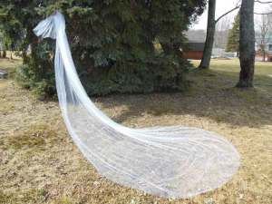 Royal length 2 tier traditional wedding veil