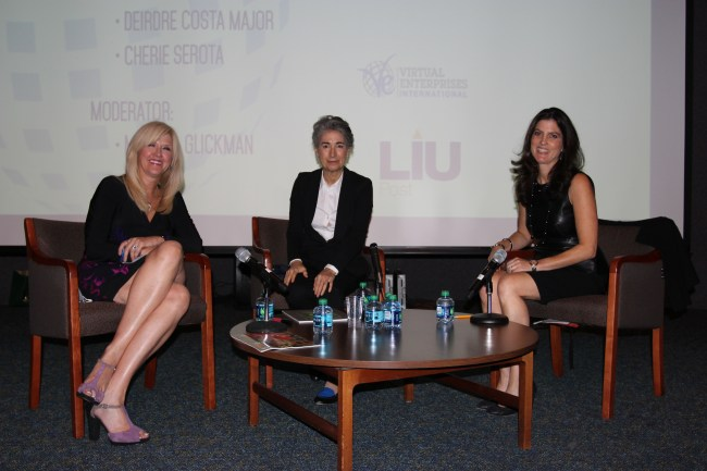Panelists for the Fashion session (from left to right) Beverly Fortune, Deirdre Costa Major, and Cherie Serota