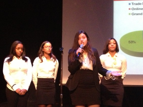Students from the VEI firm T-Squared from Jacqueline Kennedy Onassis High School