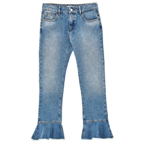 Click :: Cropped Jeans mit Volants