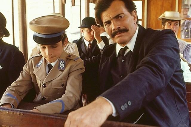 Caio Junqueira e Tarcísio Meira na minissérie 'Desejo' da Globo exibida em 1990