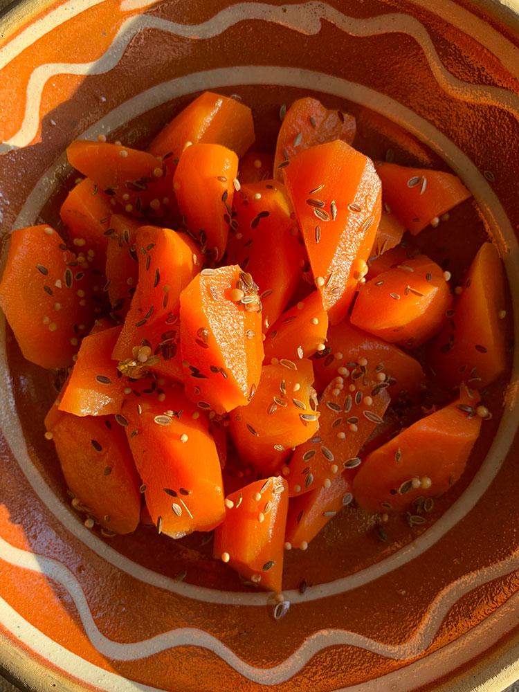 syltet gulerødder