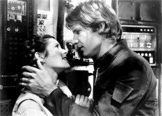 STAR WARS: EPISODE V - THE EMPIRE STRIKES BACK, from left, Carrie Fisher, Harrison Ford, 1980, ©20th Century Fox/courtesy Everett Collection