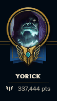 David's mastery points on just his main. He is telling you the best yorick skin hands down from experience.