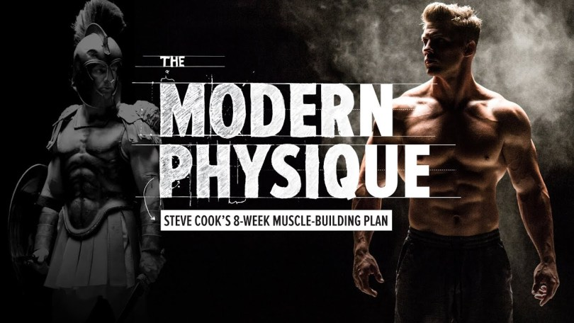Modern Physique Review BA picture of a roman soldier next to Steve Cook.