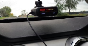 Uniden R1 Review, the best picture of the mounted radar detector in my mustang.