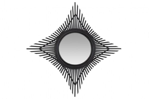 Rattan Star Mirror