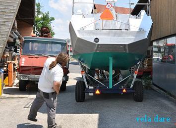 Transport zum Bootsbauer (18.06.2014)