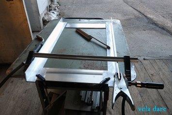 Préparation pour le socle en aluminum pour fixer le réservoir (27.03.2016)