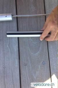 Raccords entre les morceaux de tubes en aluminium