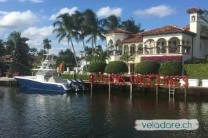 Entlang der Kanäle in Fort Lauderdale