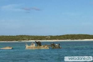 Flugzeug in Normans Cay, Exuma, Bahamas