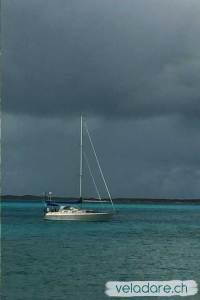Il y a beaucoup d'orages aux Bahams en hiver