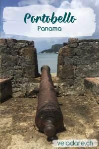Canon d'une des forteresse de Portobello, Panama