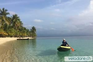 avec le kayak devant Waisaladup