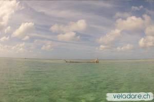Ankerplat in der Nähe vom Riff