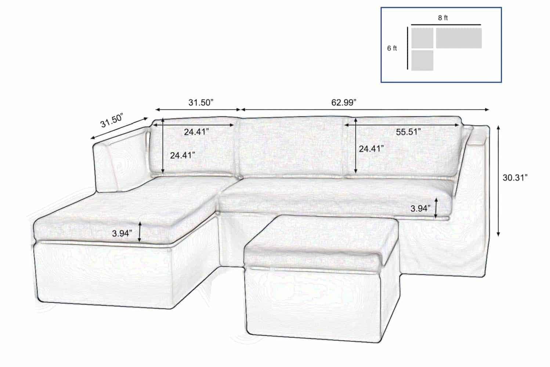 Outdoor Sectional Sofa In Dark Grey Fabric