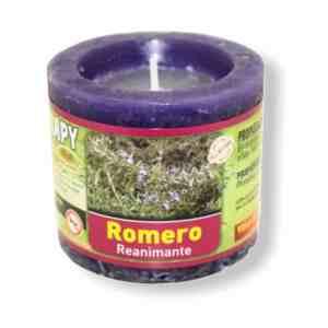 Velón aromaterapia romero