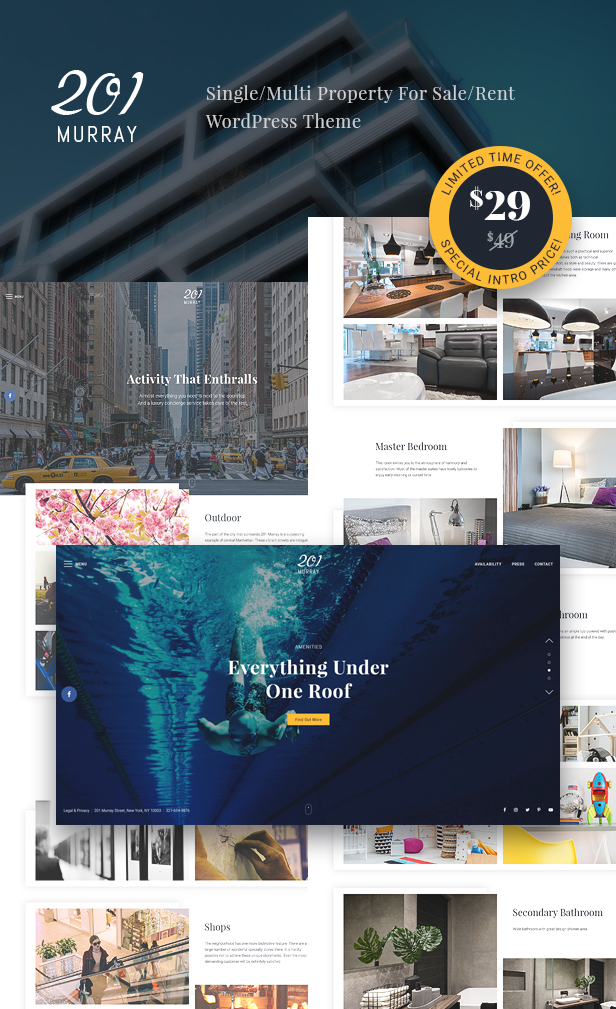 201 Murray - Single/Multi Property For Sale/Rent WordPress Theme
