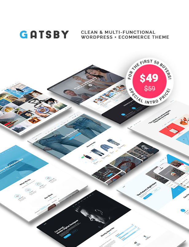Gatsby - WordPress + eCommerce Theme - 1