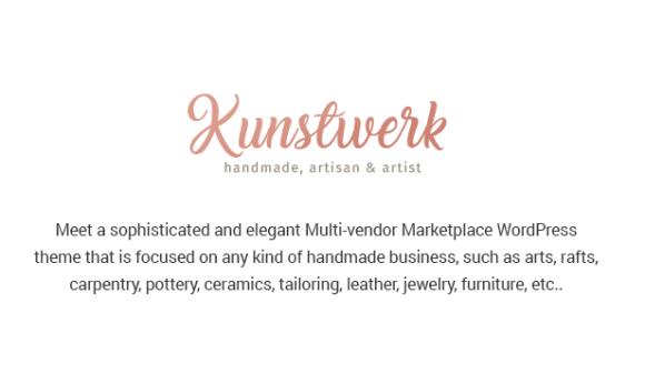 Kunstwerk - Handycraft Marketplace WordPress Theme - 2