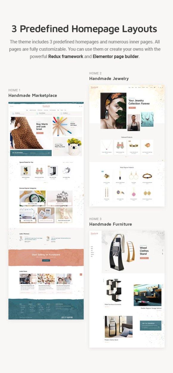 Kunstwerk - Handycraft Marketplace WordPress Theme - 3