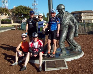 part of the ride crew at the memorial to the Signal Hill oil driller dudes