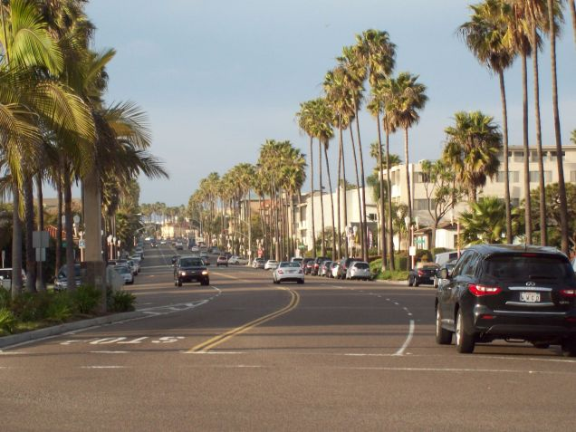 looking north on Catalina Avenue