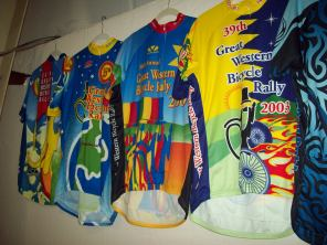 jerseys from past rallys