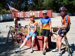Patrick, Beth and Eric at the Summit between Santa Paula and Ojai