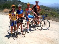 Liz, Beth Patrick and Eric at Casitas Pass