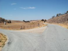 The busy intersection of Hog Canyon and Ranchita Canyon.