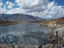 Standing on the dam at Crowley Lake
