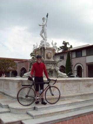 Neptune fountain at Malaga Cove Plaza