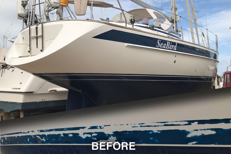 How To Repair Halberg-Rassy Cavita Stripe And Boot Stripes