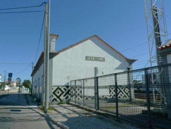 A estação antiga de Palmela.