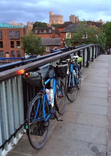 Crossing the bridge into Windsor