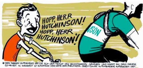 Une illustration tirée du projet de bande dessinée consacrée au Tour de Suisse.