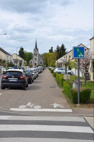 Avenue Arthur Michel dans un sens...