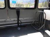 Banff/Canmore Roam Bus with Bike Rack on Front