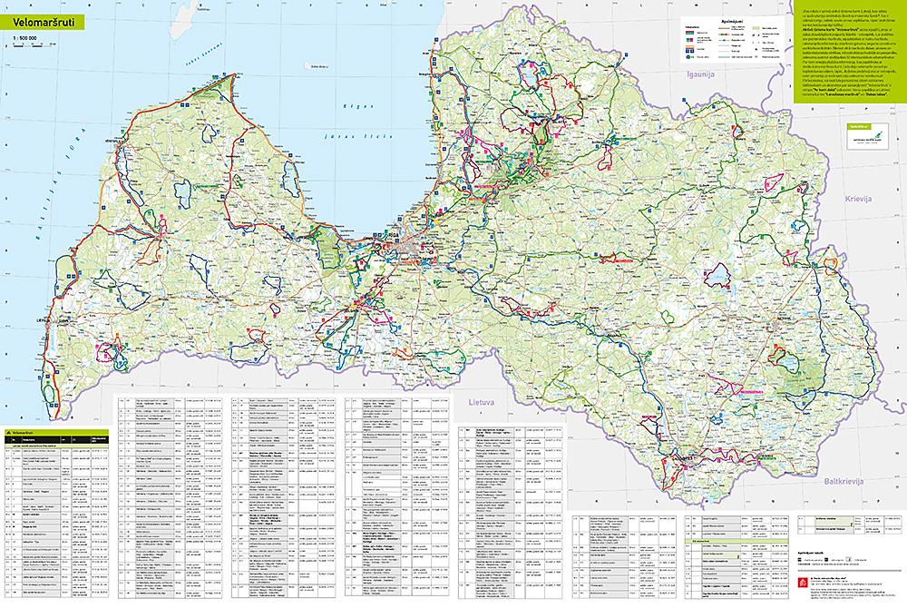 Fahrrad Karte.Neue Fahrradkarte Lettland 2018 Balticcycle Eu