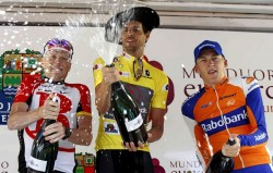 2011 Podium Vuelta al Pais Vasco (image courtesy of official race website)