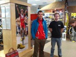 Rein in his local bike shop (image courtesy of Rein Taaramae)