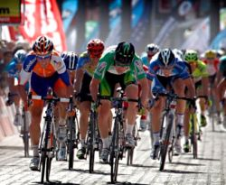 Mark Renshaw's first win in 2012 (image courtesy of Rabobank)