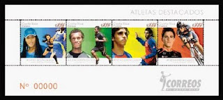 Andrey Amador, one of the Costa Rican athletes honoured on stamps