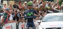 Nairo Quintano wins queen stage (image courtesy of Movistar)