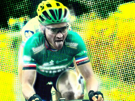 Two stage wins helped Voeckler exchange the green of Europcar for the polka dots of the King of the Mountains (image by Panache)